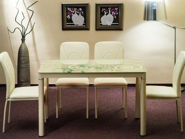 Stół Skast kremowy 80x60 cm