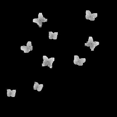 Dekoracja ścienna Mariposa niklowana
