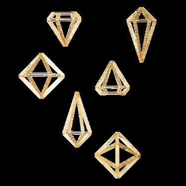 Dekoracja ścienna Prisma złota