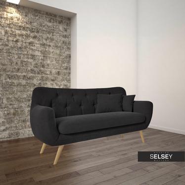 Nowa Sofa Royal 2-osobowa Soro 100 alfie (czarna)
