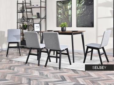 Krzesło Mirano szaro - czarne do nowoczesnej jadalni