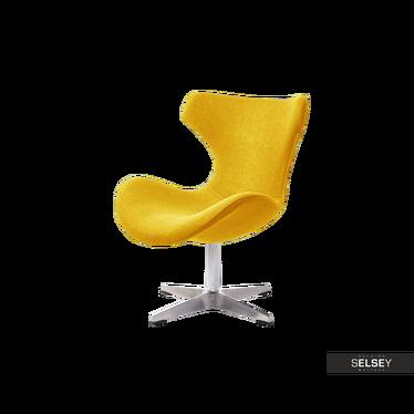 Fotel Dusan żółty