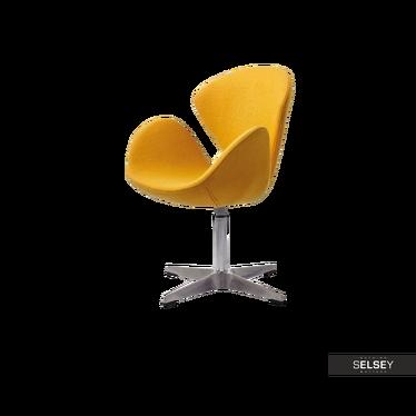 Fotel biurowy Tonale żółty