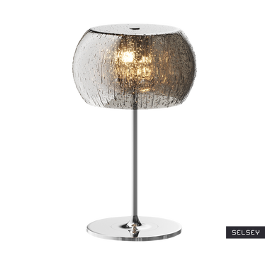 Lampa stołowa Alexis 36 cm srebrna