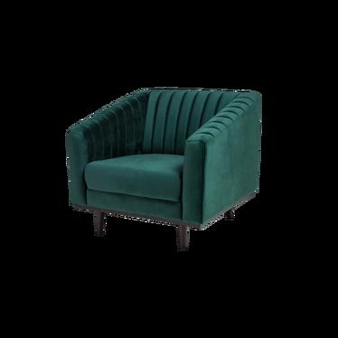 Fotel Stigby zielony aksamitny