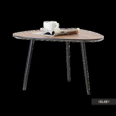 Stolik kawowy Rosin 68x65 cm orzech-czarny do pokoju dziennego