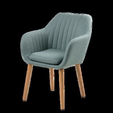 Krzesło Emilia cadet blue na drewnianej podstawie