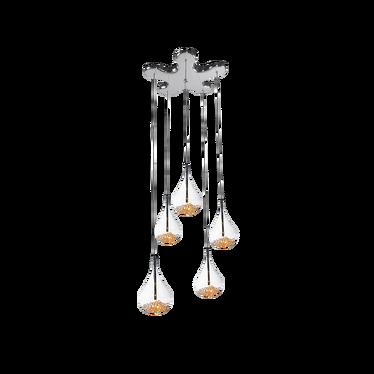 Lampa wisząca Glitter x5