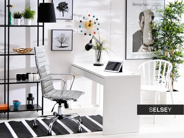 Fotel biurowy Berlin szary inspirowany Eames Eiffel