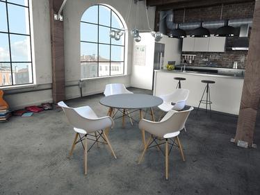 Stół Fusion średnica 100 cm szary