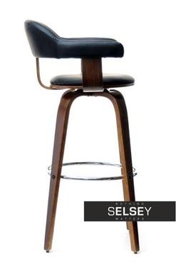 Hoker 37 orzech-czarny obrotowe krzesło barowe z giętego drewna