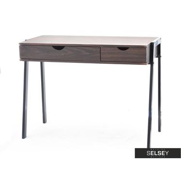 Małe biurko designerskie Lund orzech