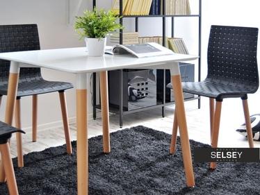 Stół Work 80x80 cm drewniany z kwadratowym blatem