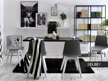 Krzesło Caro DSX szaro-białe z tworzywa