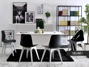 Krzesło Caro DSX czarno-białe z tworzywa