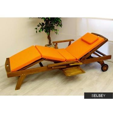 Poduszka na leżak pomarańczowa