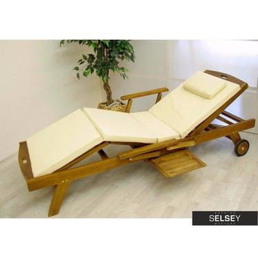 Poduszka na leżak kremowa