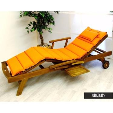 Poduszka na leżak 11 segmentów pomarańczowa