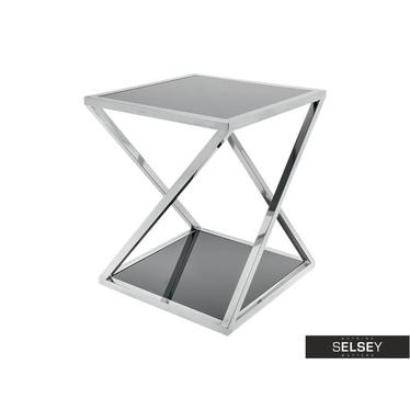 Stolik kawowy Futura 40x40 cm z dwoma blatami