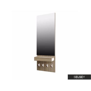 Lustro L`Hombre 138x54 cm z szufladą i wieszakami