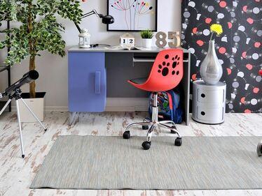 Fotel biurowy Foot czerwono - czarny do biurka dla dzieci