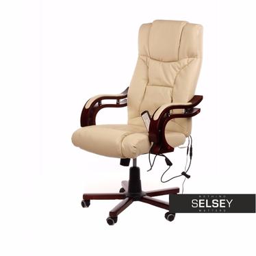 Fotel biurowy Inagi z masażem beżowy