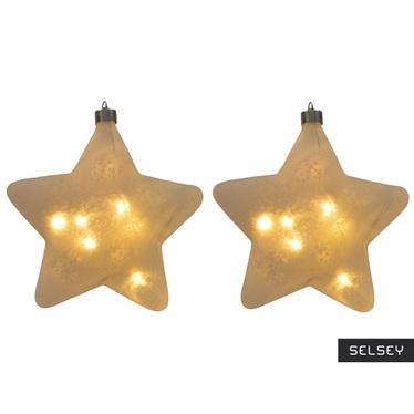 Bombki Twinkle LED 15 cm x2
