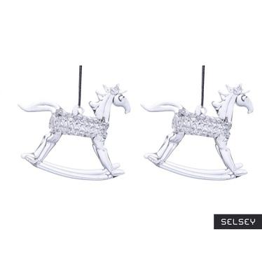 Szklane zawieszki Rocking Horse 8 cm x 4
