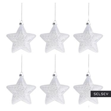 Bombki Twist Star 10,5 cm x6