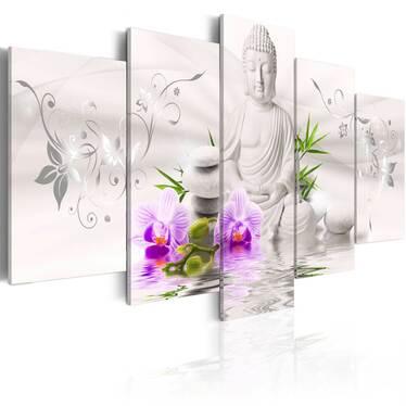 Obraz - Biały Budda 100x50 cm