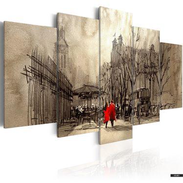 Obraz - Romantyczna przechadzka 100x50 cm