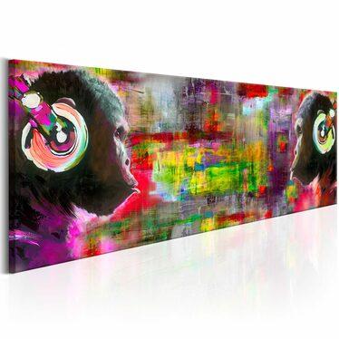 Obraz - Muzyczny duet 135x45 cm