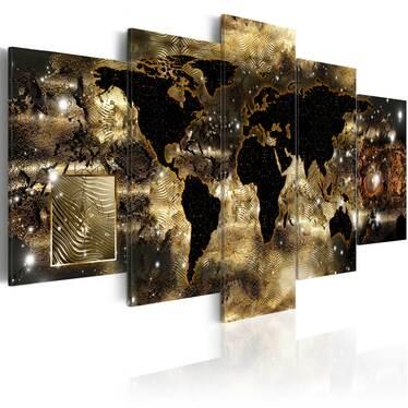 Obraz - Kontynenty z brązu 100x50 cm