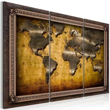 Obraz - Świat w ramach 120x80 cm