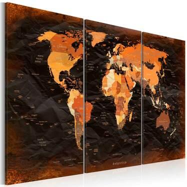 Obraz - Niezwykła mapa 120x80 cm