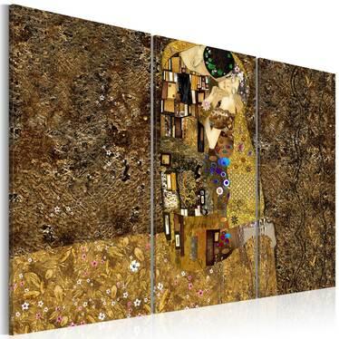 Obraz - Klimt inspiracje - Pocałunek 120x80 cm
