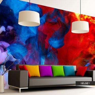Fototapeta - Kolorowe płomienie 350x245 cm