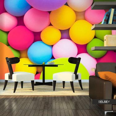 Fototapeta - Kolorowe kulki 350x245 cm