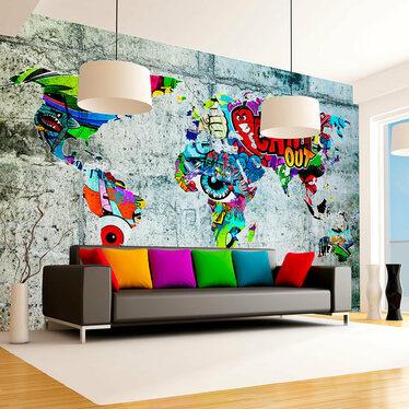 Fototapeta Mapa Graffiti