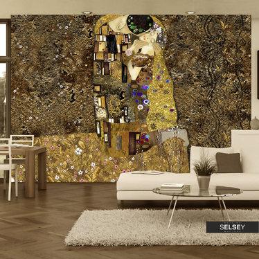 Fototapeta - Klimt inspiracja - Złoty pocałunek 350x245 cm