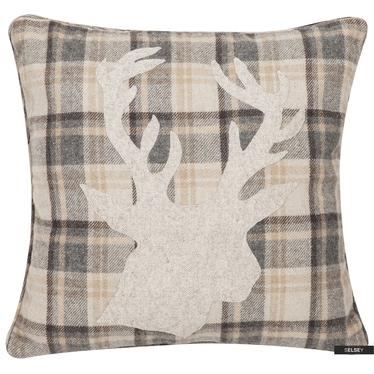 Poduszka z poszewką Reindeer Patchwork 45x45 cm