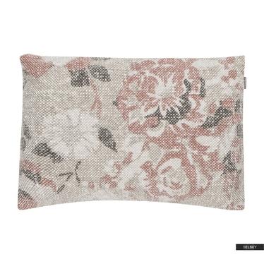 Poduszka z poszewką Vintage Flower różowa 35x50 cm