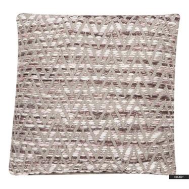 Poduszka z poszewką Zigzag melanż 45x45 cm