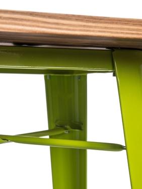 Stół barowy Paris Wood 60x60 cm zielony jasny sosna