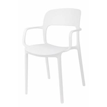 Krzesło z podłokietnikami Flexi białe