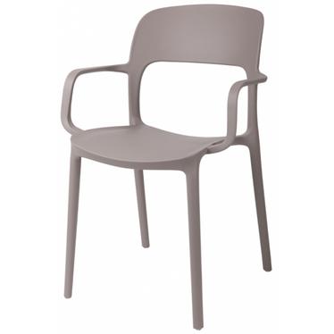 Krzesło z podłokietnikami Flexi mild grey