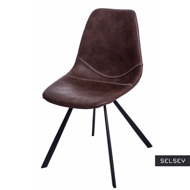 Krzesło Vincent M jasno brązowe