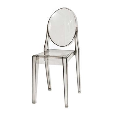Krzesło Viki szary transparentny