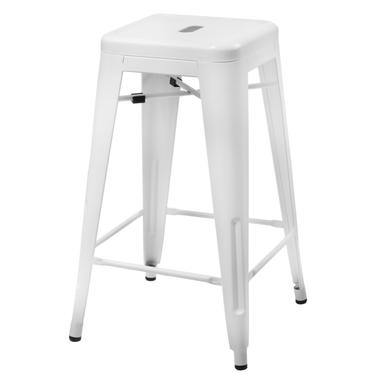 Hoker Paris 75cm biały inspirowany Tolix