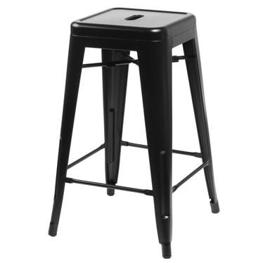 Hoker Paris 75cm czarny inspirowany Tolix
